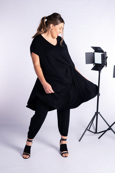 Nara Tunic/Dress- Black ONLY 2 LEFT