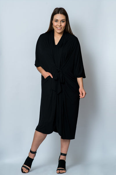 Majestic 4-in-1 Kimono wrap: Black ONLY 1 LEFT
