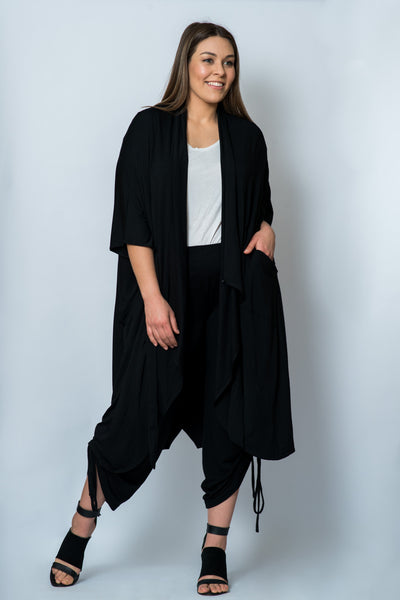 207d42b32eb Majestic 4-in-1 Kimono wrap  Black ONLY 1 LEFT – Lulumanna