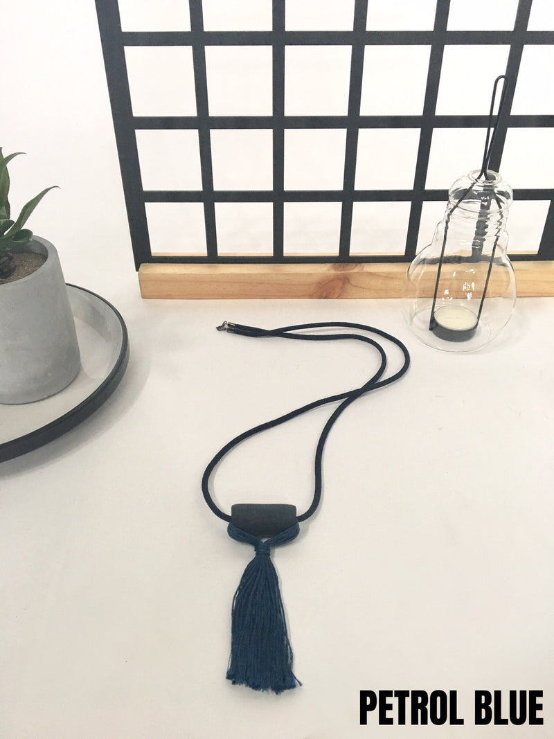 Exclusive Tassel Bar Necklace