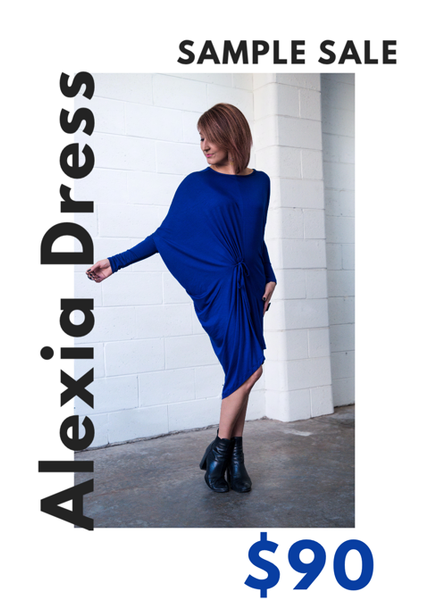 Alexia Dress sample- Sapphire Blue