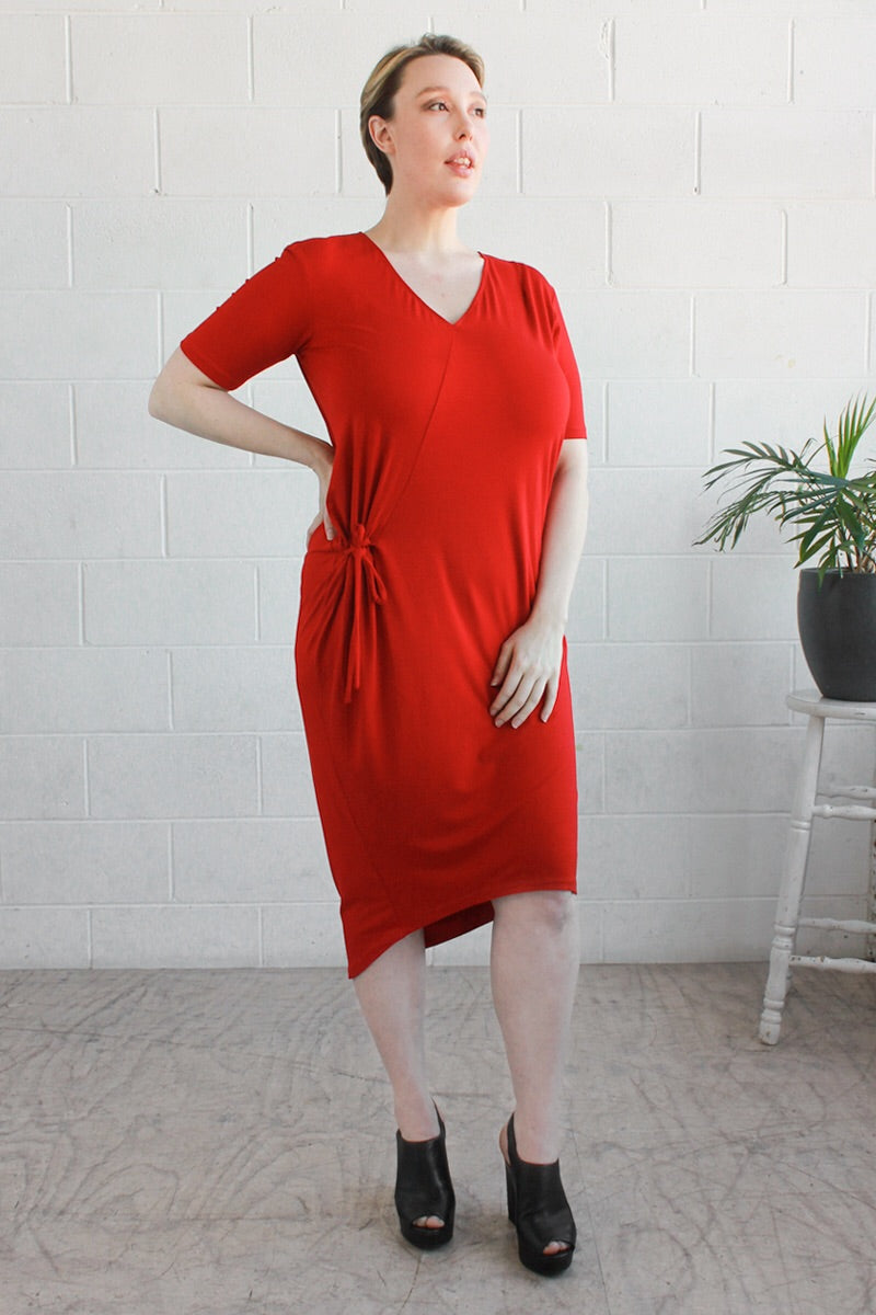 AIESHA DRESS- Red
