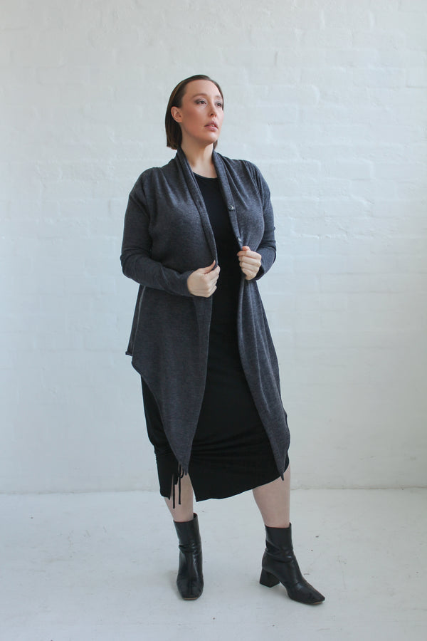 Eden Waterfall Cardi- Charcoal