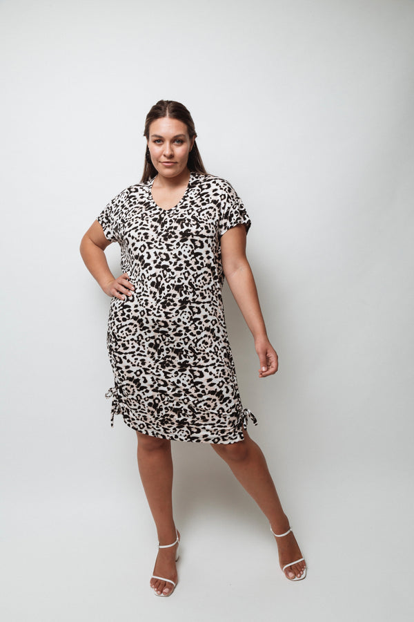 Evissa T-shirt Dress- Leopard print