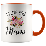 I Love You Mami Accent Mug