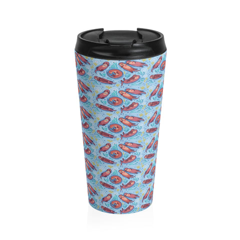 Cute Otter Stainless Steel Travel Mug