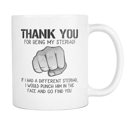 Thank you for being my stepdad coffee mugs