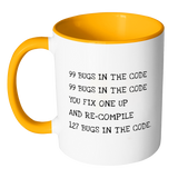 99 Bugs in the Code Accent Mug