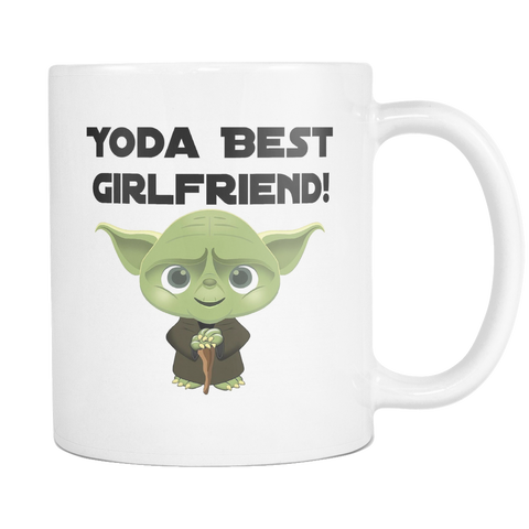 yoda Best Girlfriend 11 and 15oz Mug