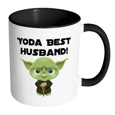 Yoda Best Husband 11oz Accent Mug