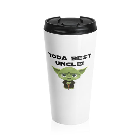 Yoda Best Uncle Stainless Steel Travel Mug