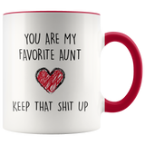 You Are My Favorite Aunt Accent Mug