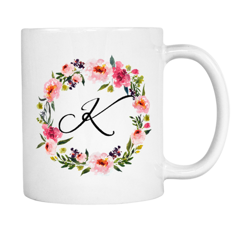 K Monogram 11oz Coffee Mug