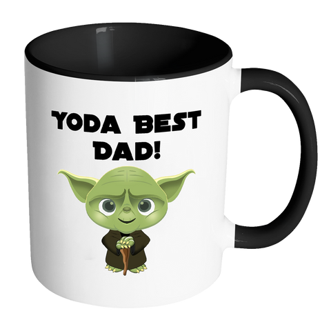 Yoda Best Dad Accent Mug
