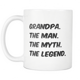 Grandpa The Myth Coffee Mug