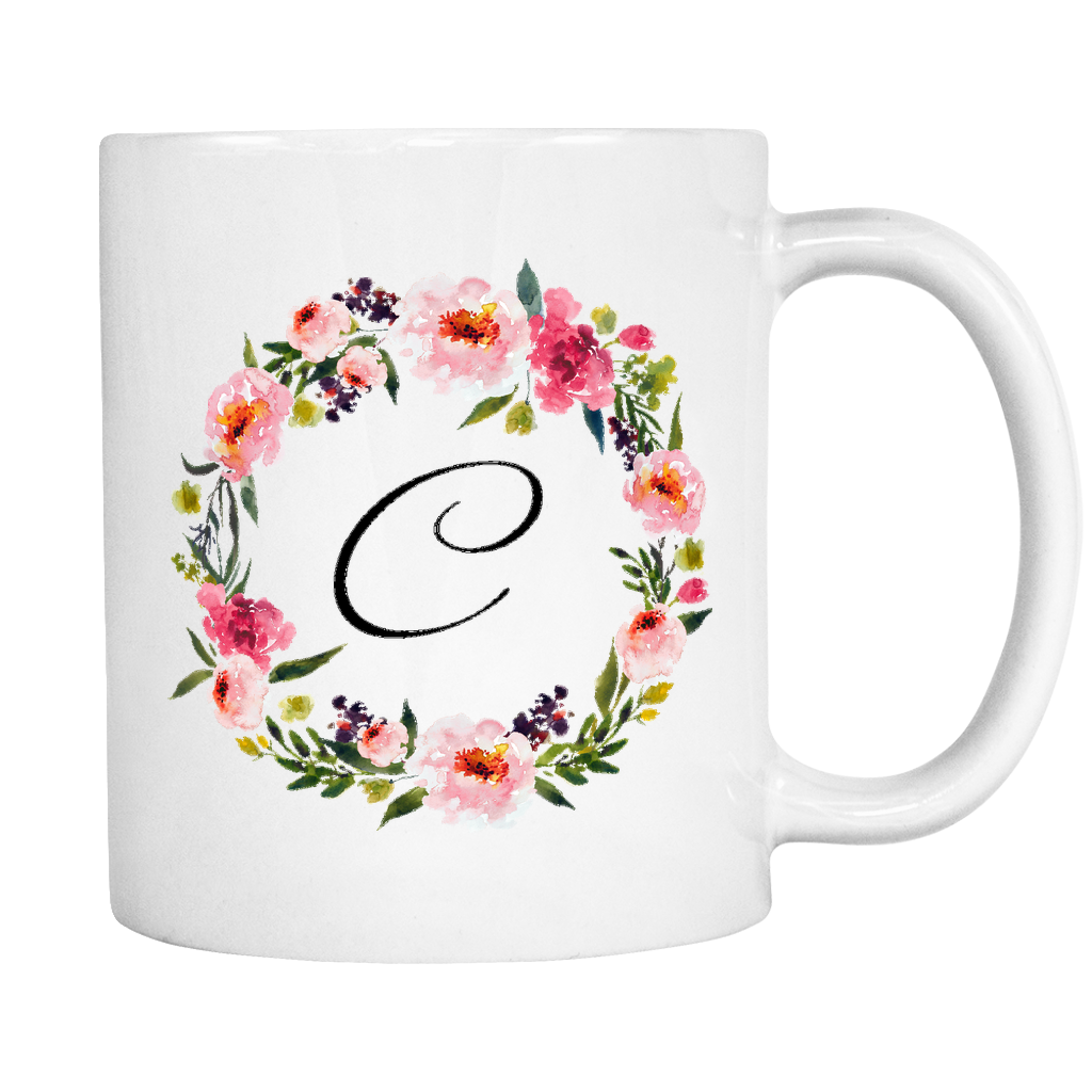 C Monogram 11oz Coffee Mug