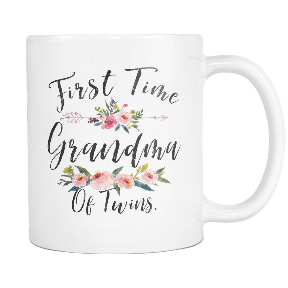 First Time Grandma Of Twins Mug