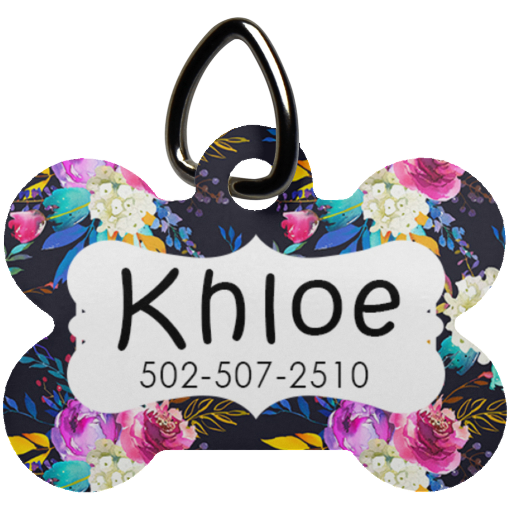 Khloe Dog Bone Pet Tag