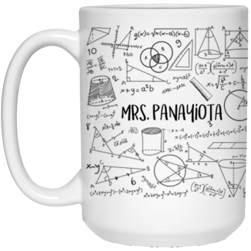 15 oz. White Mug Aimilia Themistokleous