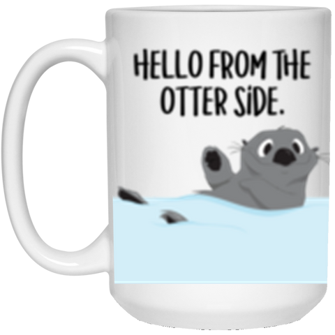 15 oz. Otter Mug - This is the One with 2 different designs