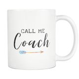 Call Me Coach 11oz Mug with Orange Arrow