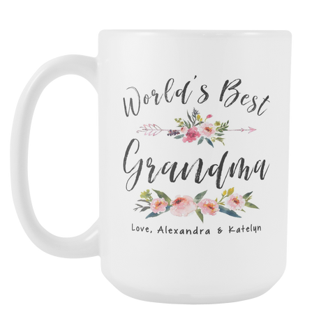 Worlds Best Grandma Custom 15oz