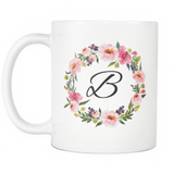 B Monogram 11oz Coffee Mug