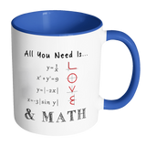 All You Need Is Love & Math Accent Mug
