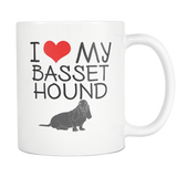 I Love My Basset Hound 11oz Mug