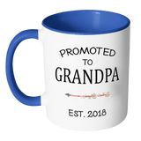 Promoted To Grandpa 2018 Accent Mug