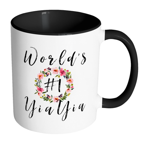 Worlds #1 YiaYia Accent Mug