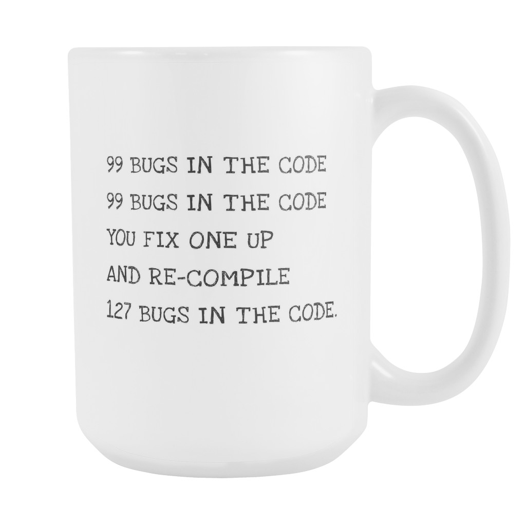 99 Bugs 15oz Coffee Mug