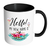 Hello My New Name Is Mommy 11oz Accent Mug