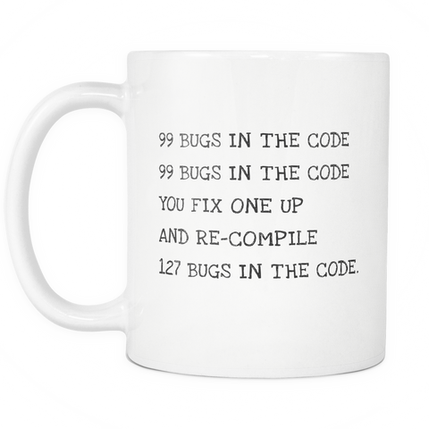 99 Bugs 11oz Coffee Mug