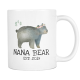 Nana Bear 2019 11 and 15oz Mug