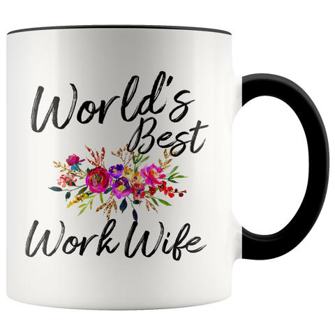 Worlds Best Work Wife Accent Mug