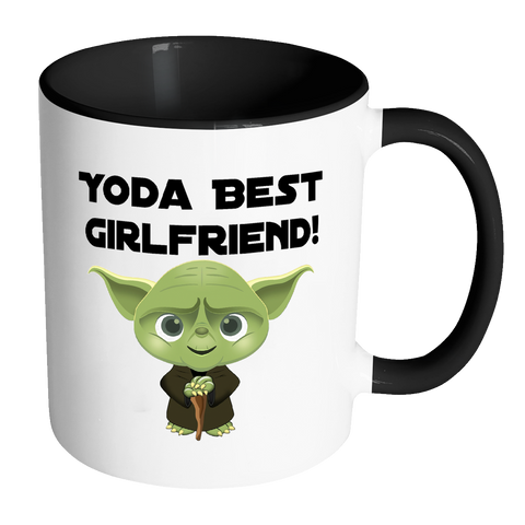 Yoda Best Girlfriend Accent Mug