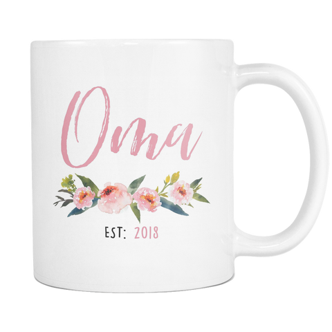 Oma Est 2018 11 and 15oz Mug