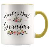 Worlds Best Grandma Accent Mug