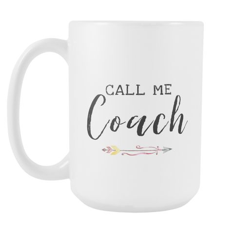 Call Me Coach Pink Arrow 15oz Mug