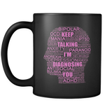 Psychiatric Nurse Practitioner 11oz Black Pink