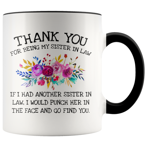 Sister In Law Accent Mug