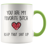 You are my favorite bitch heart accent mug