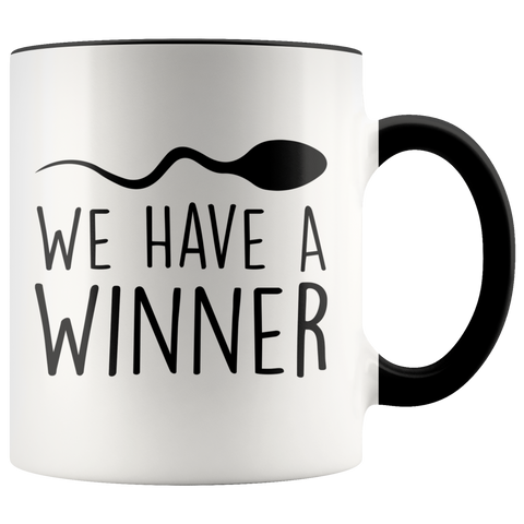 We Have A Winner accent Mug