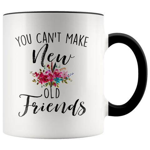 You Cant Make Old New Friends Accent Mug