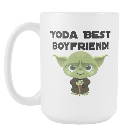 Yoda Best Boyfriend 15oz Mug