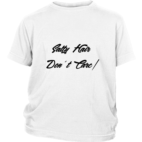 Salty Hair Don't Care - Kids T-Shirt