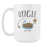 Uncle Gone Fishing 15oz Mug