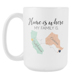 Home is where my family is 15oz Mug