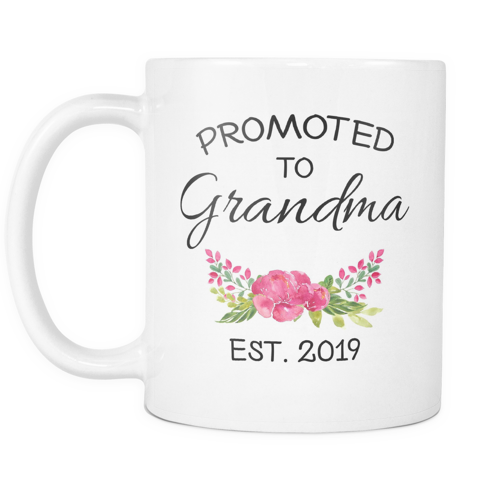 Promoted To Grandma 2019 11 & 15oz Mug Set